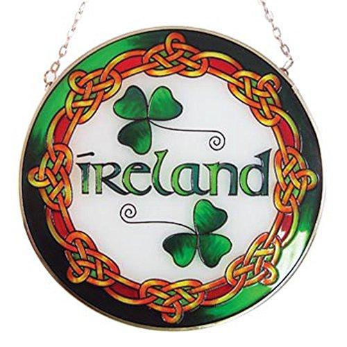 Royal Tara Ireland Round 16cm Stained Glass Window Irish Suncatcher Hang