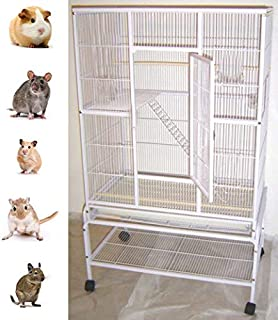 New Large Wrought Iron 4 Levels Ferret Chinchilla Sugar Glider Rats Mices Rabbit Squirrel Hamster Cage with Removable Stand