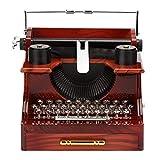 ZRJ Bonita caja de música de madera con manivela de mano clásica para máquina de escribir, caja de música de madera y metal, caja de música de moda (color: A)