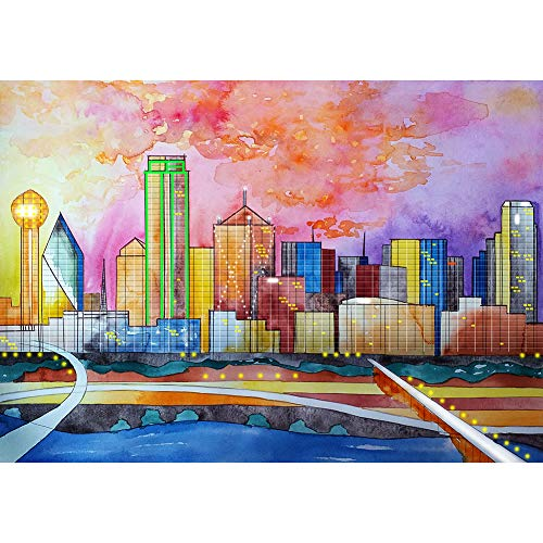 5D Diamond Painting Kits City Planning Full Round Drill Picture Handicrafts
