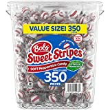 Bob's Red & White Bob's Sweet Stripes Soft Candy, 61.73 Ounce, Peppermint, 350 Count from Ferrara