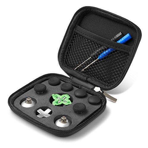Supremery Xbox One Elite Controller Sticks Buttons Zubehör aus Aluminium - 11 Teiliges Set (auch passend für normalen Xbox One Controller)