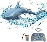 Goolsky RC Shark Boat Toy Squalo Telecomandato 2.4G Simulazione per Il Giocattolo del Bagno della Piscina Giocattolo Impermeabile dello Squalo A 4 Canali
