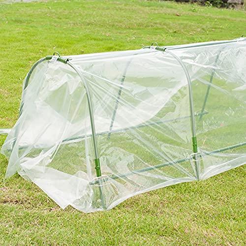 Kslogin Lámina de plástico transparente para invernadero, cubierta de polietileno de alta calidad, protección contra la lluvia y las heladas