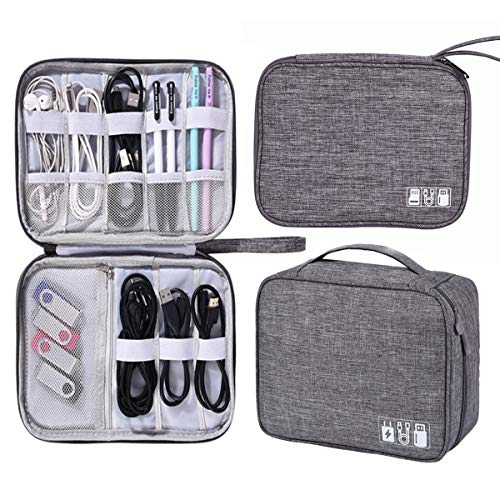 Xumier 2PCS Borse Organizer per Cavi organizzatore Cavi Viaggio Accessories Bag elettronici organizzatore Sacchetto Travel Cable Tasche Portatile Custodie Dischi rigidi Ricarica Caricabatterie USB