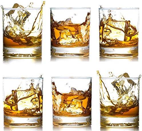 Whiskey Glasses Premium 12 OZ Scotch Glasses Set of 6 Old Fashioned Whiskey Glasses Perfect product image