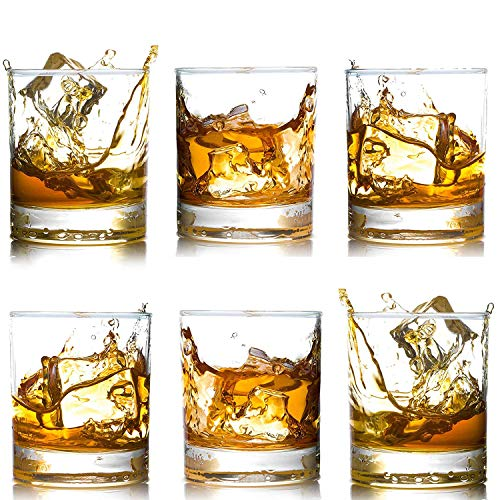 Whiskey Glasses-Premium 12 OZ Scotch Glasses Set of 6 /Old Fashioned Whiskey Glasses/Perfect Gift...