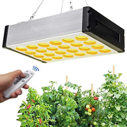 Relassy LED Grow Lampe 800W Dimmbar, LED Pflanzenlampe mit Timer, Fernbedienung Pflanzenlicht Vollspektrum mit Daisy-Chain Grow Light Pflanzenleuchte für Zimmerpflanzen Blumen Gemüse Hydroponik