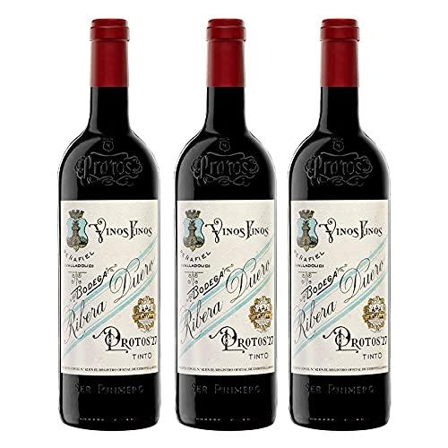 Vino Tinto Protos 27 de 75 cl - D.O. Ribera del Duero - Bodegas Protos (Pack de 3 botellas)