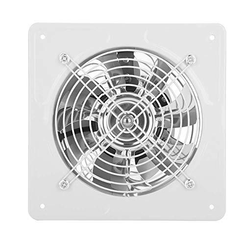 40W Ventilador de escape montado en la pared Extractor de bajo ruido Ventilador Ventilador Ventilador de flujo de escape axial para Baño Cocina Garaje, 6 pulgadas (White)