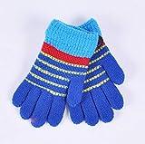 SUNHAO Warme Kinderhandschuhe Gestrickte Wolle mit fünf Fingern Fingerhandschuhe mit breiter Öffnung gegen die Nadel Winter-Fernbedienung für den Außenbereich