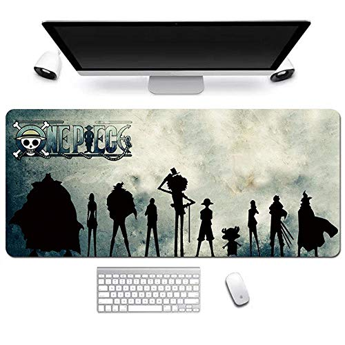 ITBT One Piece Alfombrilla Raton Anime Gaming Mouse Pad XXL 900x400x3 mm,Impermeable con 3mm Base de Goma Antideslizante,Special-Textured Superficie para Ordenador, PC y Laptop, D