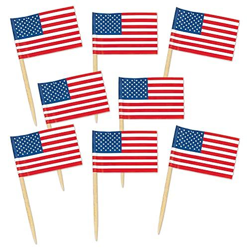 American Flag Food Picks