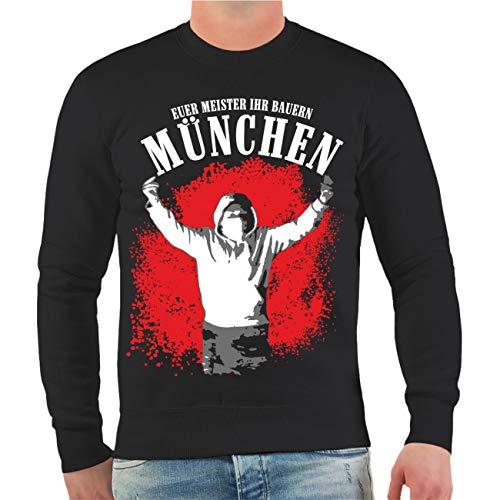 No Fight No Glory Männer und Herren Pullover München Euer Meister Ihr Bauern Größe S - 10XL