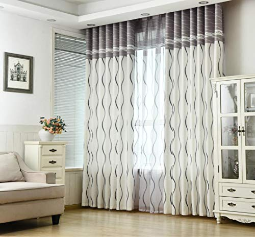 Gordijnen voor woonkamer Eetkamer Slaapkamer Klassiek Zwart-witte streep Plat Milieubescherming Afdrukgordijn, gordijn, B400cmxH250cm