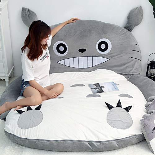 Totoro Tatami Canapé-Lit Doux Chaud De Bande Dessinée Lit De Couchage Double Adulte Et Enfants Dormitory Matelas Canapé-lit,120x80cm