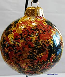 pallina di natale in ceramica made in Italy