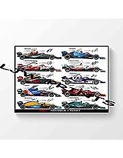 2021 F1 Formule 1 Teams 2021 Gesigneerde Gesigneerde Gedrukte Poster