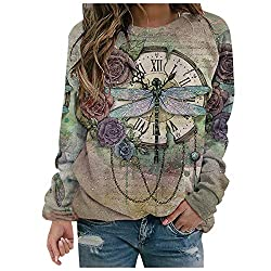 Fetures:Long sleeves, Butterfly and Clock Printing Style Animal Sweatshirt Pullover,cropped hoodies,special tailored neckline,drop shoulders,drawstring sweatshirts.This is a soft light weight women's hoodie, you may feel it a little thin if you want ...