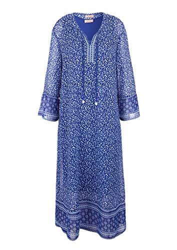 TRIANGLE Damen Tunikakleid aus Chiffon Blue AOP 50
