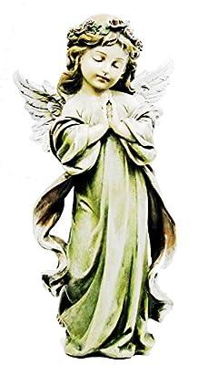 "Napco Little Girl Angel Statue, 12.75"""