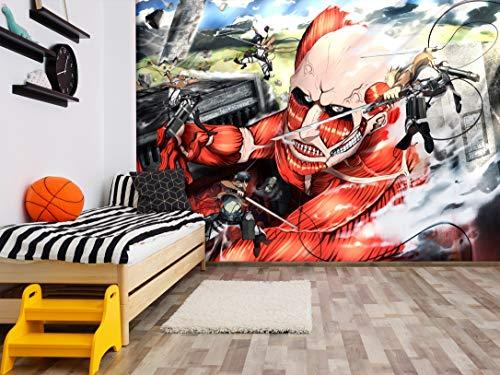 """Papel pintado 3D Attack On Titan 299 Japón Anime Game Mural de pared extraíble   Papel pintado autoadhesivo grande Reino Unido Acmy, Vinilo (sin pegamento y extraíble)., 【 82""""x58""""】208x146cm(WxH)"""