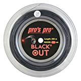 P3 International Pros Pro Black out Cordaje de Tenis - 200m Rollo - 1.28mm...