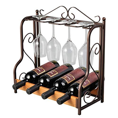 CZLSD Creativo estante de vino europeo para el hogar boca abajo portavasos copas decoración del hogar