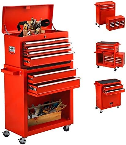 8 Drawers Rolling Tool Factory outlet depot Chest and Box with Wheels To