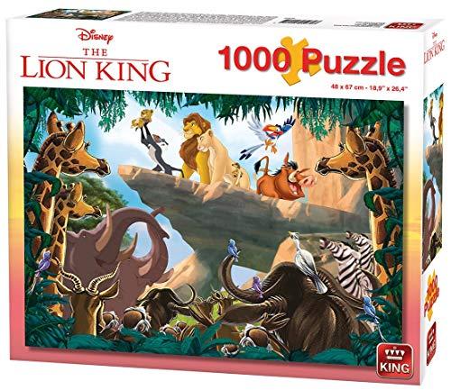 KING 55830 Disney Lion Rock puzzle 1000 pezzi, cartone blu