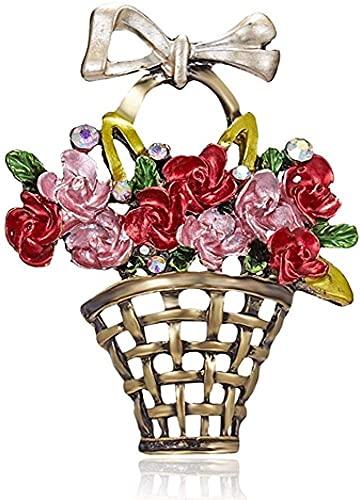 ZRDSZWZ Broche confiable novedad broche broche broche broche de la mujer flor planta cristal rhinestone día de la madre joyería vintage mujer colorido broche, mejor regalo accesorios de joyería