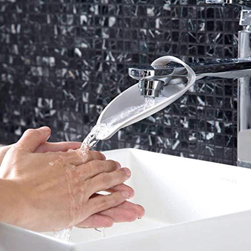 ウォーターガイド 手洗い 補助 子ども用 蛇口 延長 子供用 便利 浴室 デザイン パーツ 可愛い便利グッズ グレー (2枚セット)