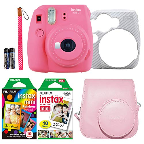 Cheapest Prices! Fujifilm Instax Mini 9 Instant Film Camera Holiday Bundle (Flamingo Pink) with Pink...