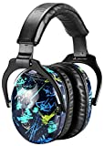 ZOHAN EM030 [Upgraded] Kids Hearing Protection Safety Earmuffs | Adjustable Ear Defenders Fit for Toddlers, Children and Young Teens - Graffiti Pattern