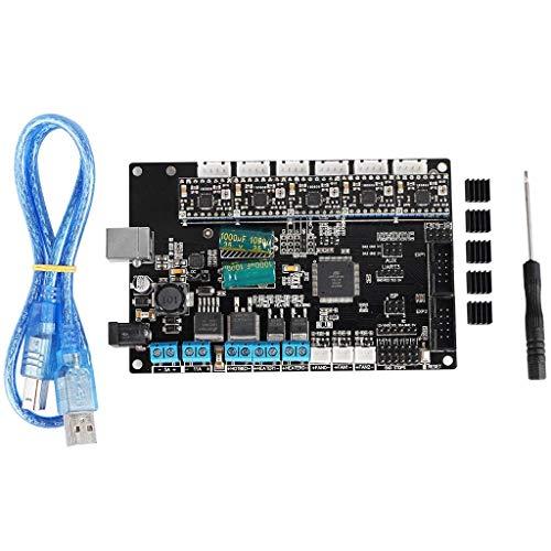 BJLWTQ TriGorilla Mainboard Motherboard + 5X A4988-Treiber mit USB-Kabel Kit for 3D-Drucker Kossel Prusa i3 Corexy