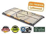 BMM Lattenrost XXL 7-Zonen, geräuschlose Trio HQ-Kappen, Antirutsch-Bolzen, SchulterPLUS Zone (+10mm Einsinktiefe), extrem belastbar bis 180kg, 100x200 cm