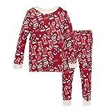 Burt's Bees Baby Baby Boy's Pajamas, Tee and Pant 2-Piece PJ Set, 100% Organic Cotton, Holiday Stockings, 4 Toddler