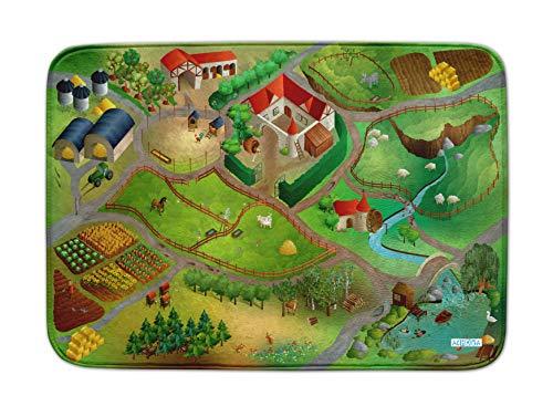 Achoka- Tapis de Jeux, Ferme, 100X150 cm