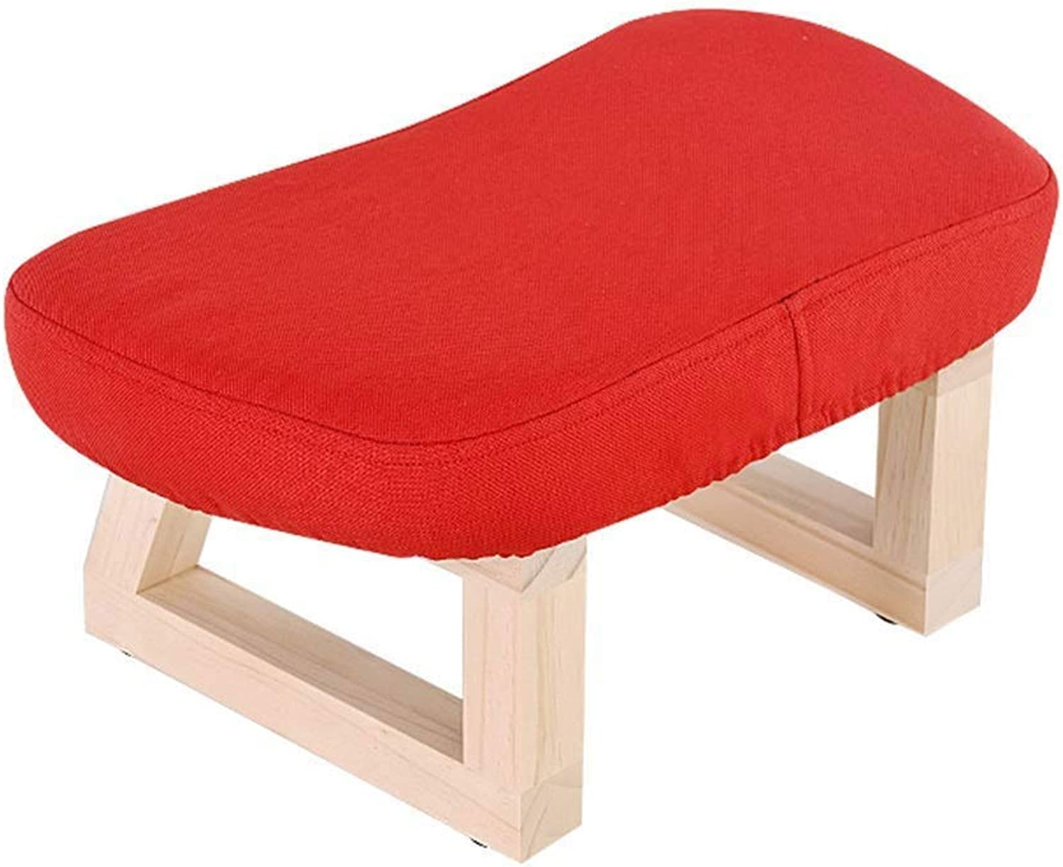 AJZGF Change shoes Stool Small Sofa Solid Wood Dwarf Fabric shoes Bench - Small Stool (color   D)