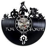 NUOVO! World of Warcraft Art Orologio da parete in vinile Camera da regalo Modern Home Record Decorazione vintage-Regalo di moda per bambini Uomini Mamma Donne Compleanno Matrimonio Natale e Halloween