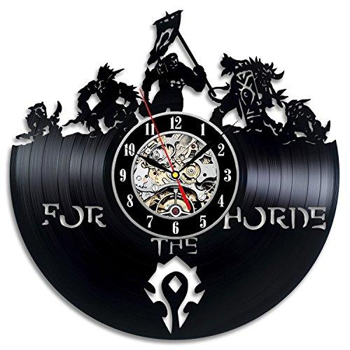 Meet Beauty Ding World of Warcraft Art Vinyl Wall Clock Habitación de Regalo Modern Home Record Vintage Decoration 30CM Ronda Negro