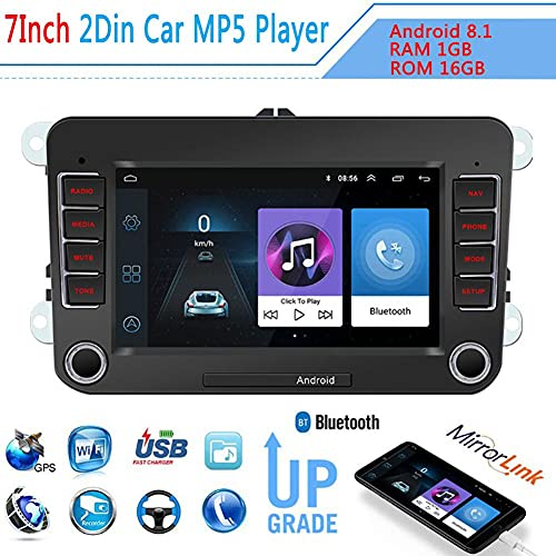 TAHMM 7 '' Coche Radio Car Multimedia Player Support GPS Navigation Autoradio 2DIN Stereo Video MP5 para Volkswagen Automobile Players MP5 (Color : Black)