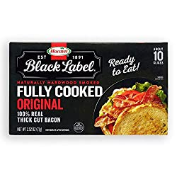 Hormel Black Label, Fully Cooked Bacon, 2.52 oz