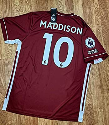FM James Maddison#10 Leicester City Jersey 2020-2021 Full Patch RED Color (M)