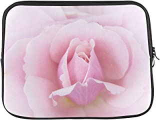Design Custom Rose Pink Macro Close Up Blossom Bloom Plant Sleeve Soft Laptop Case Bag Pouch Skin for MacBook Air 11