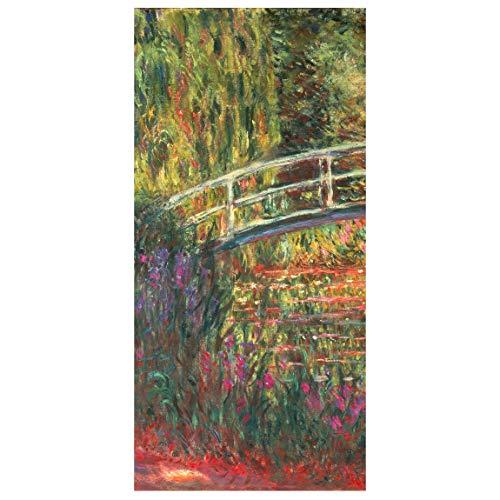 Bilderwelten Panel japones - C. Monet - The Japanese Bridge Giverny 250 x 120cm sin Soporte