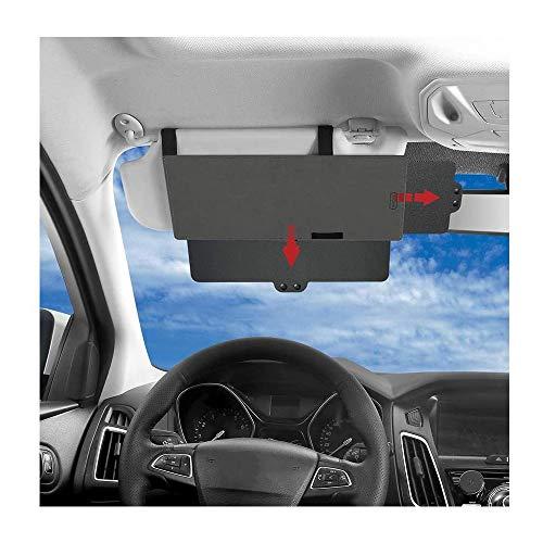 Junzheng Estensore Parasole Auto,Antiriflesso Parasole Extender,Aletta Parasole Universale con Protezione dai Raggi UV,per Sedile Anteriore Conducente o Passeggero
