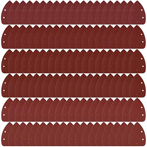 Coceca 120pcs Mouse Detail Sander Sandpaper Sanding Paper Each 20pcs of 40 60 80 120 180 240 Grits Mouse Sandpaper