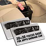 KMMOTORS Jopps Car Garbage Can Patented Car Wastebasket Comfortable Car Mini Organizer (1. Jopps Plastic Bags 2 Pack)