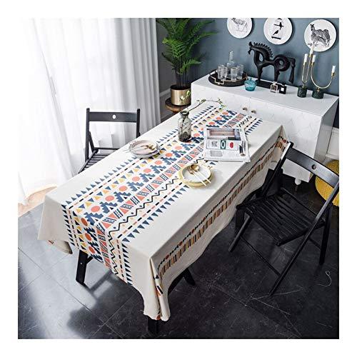 Brandless Böhmer geometrisches Tischtuch Haushaltstischabdeckung Kamin Kamin Tischplatte multifunktionales Druckgewebe (Kleur, Specificatie : 140x140cm)